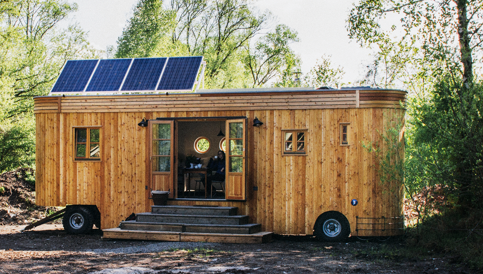 Mini-Haus auf Rädern - Energie-Tipp