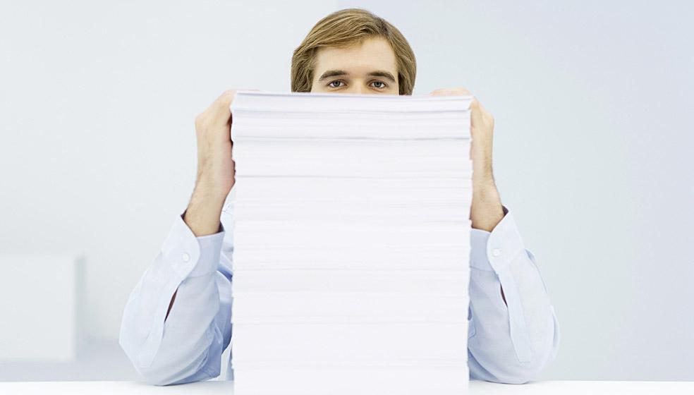 Altpapier und Restmüll